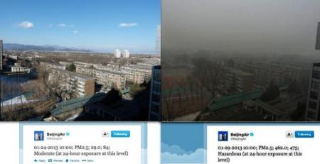 Biejing Smog before and after