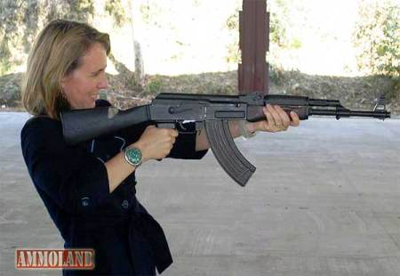 Gabby Girrords shootiubg a so-called Assault Rifle, an AK-47