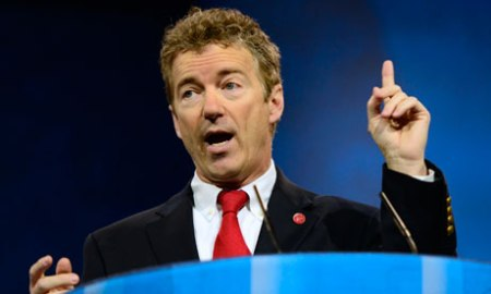 Senator Rand Paul is likely to find that, as for his father Ron Paul, a strong libertarian platform is popular with young voters. Photograph: Ron Sachs/Corbis