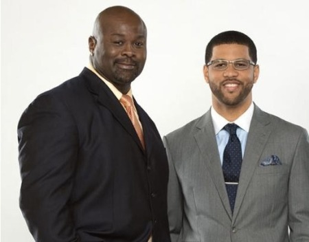 Hugh Douglas (left) and Michael Smith (right). Douglas was fired from ESPN this week following an alleged spat with his co-host. (Photo Credit: ESPN)