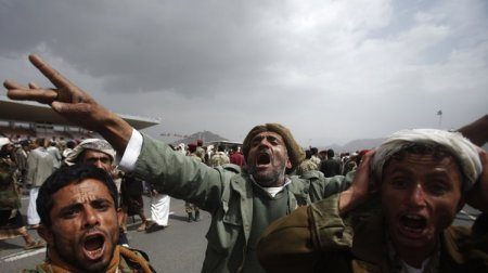 Yemen Armu protests drone strikes